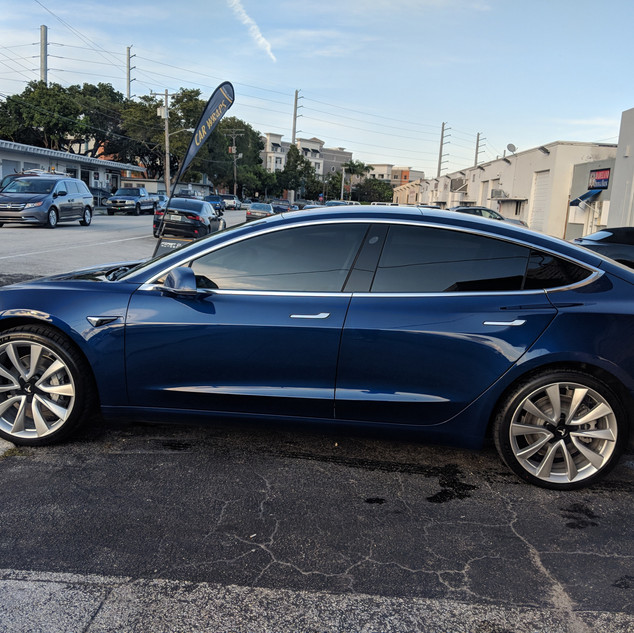 TESLA MODEL 3 WINDOW TINTING MIAMI