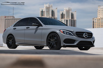 mercedes battleship satin grey wrap