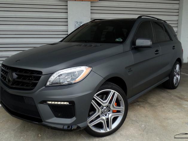 Mercedes Benz - Satin Car Wrap