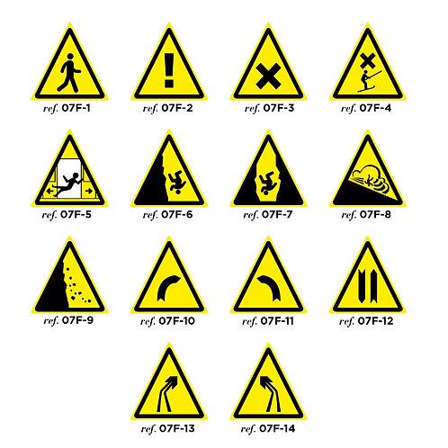 """Balise triangle """"danger"""" - Petit modèle Série1"""