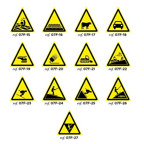 """Balise triangle """"danger"""" - Petit modèle Série 2"""