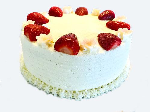 Diplomat Cream & Strawberry Cake