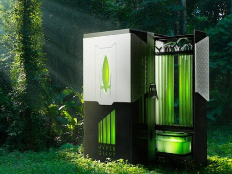 This new 3x3 foot wide bioreactor uses algae to capture as much carbon dioxide as an acre of trees