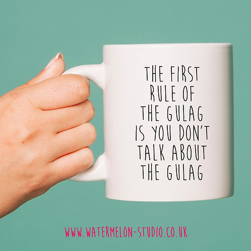 First rule of the gulag mug