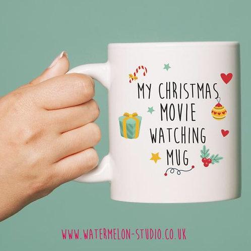 My Christmas movie watching mug