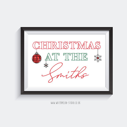 Christmas at the ... Personalised print