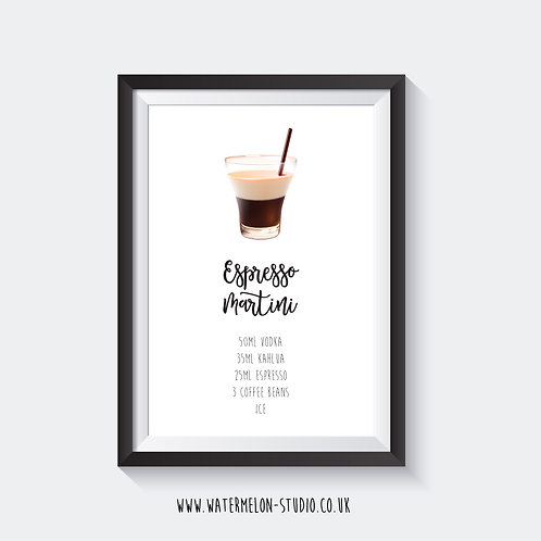 Espresso Martini Cocktail print