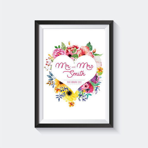 Floral Wedding Print