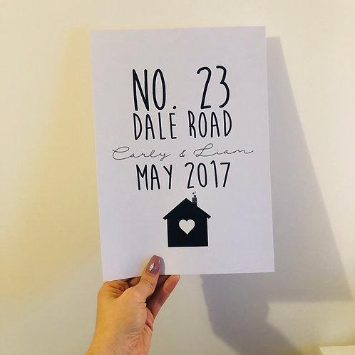 New home memory print