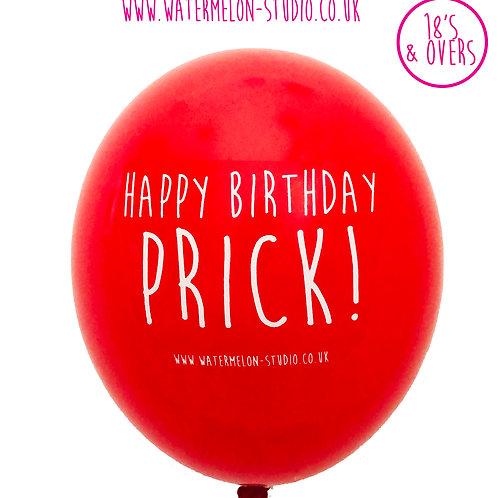 Happy Birthday Prick - Red