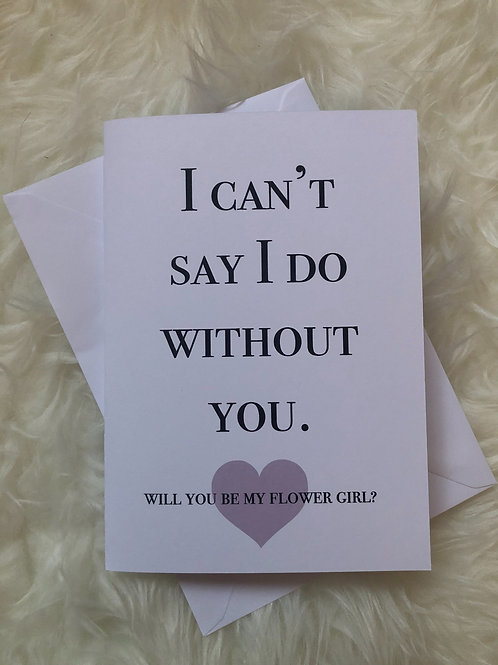 I can't say I do without you - Flower Girl