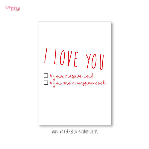 I love you & your massive...