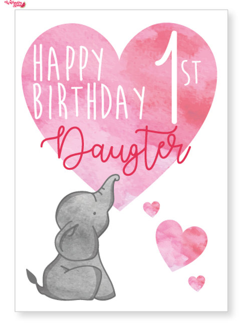 Elephant birthday card for her