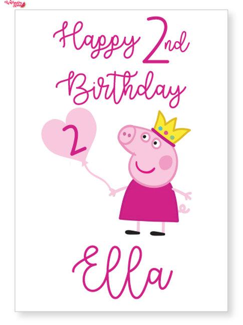 Peppa Pig Personalised card