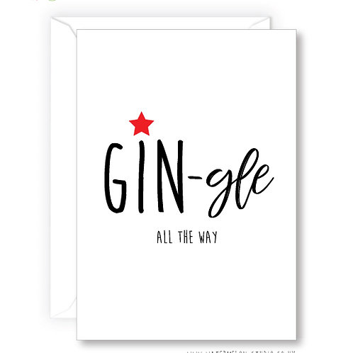 GIN-gle all the way Card
