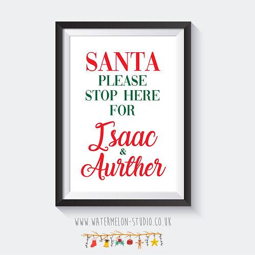 Santa please stop here - personalised