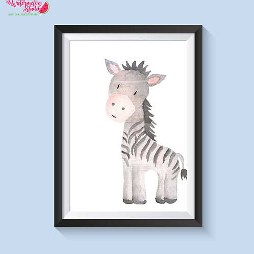Zolly The Zebra Print