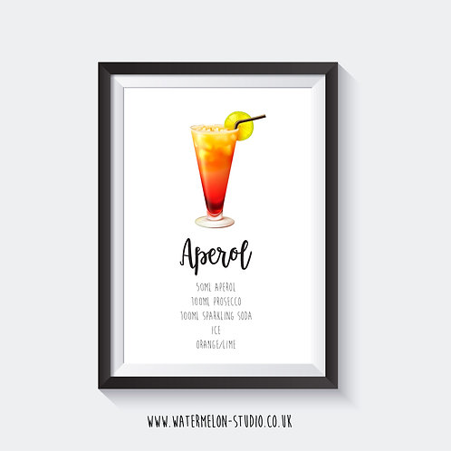 Aperol Spritz Cocktail print