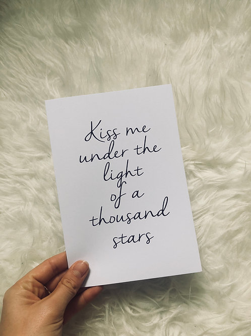 Kiss me under the stars