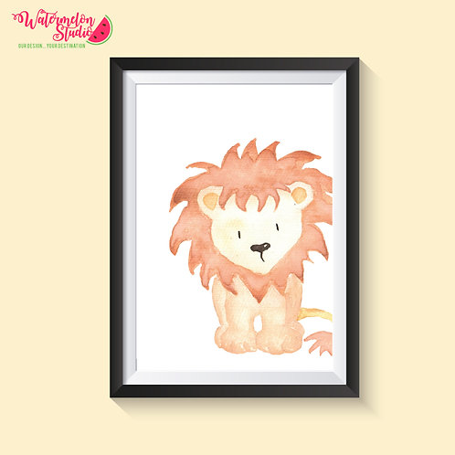 Lolly the Lion Print