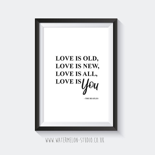 Love is old...