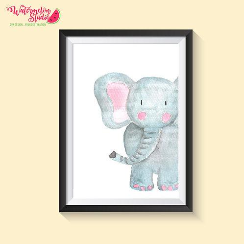 Ezra The Elephant Print