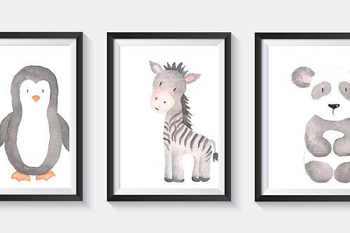 Mono animal trio