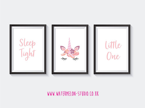 Sleep Tight Little One - Unicorn Set of 3