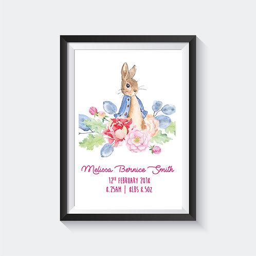 Floral Peter Rabbit