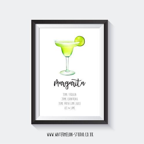 Margarita Cocktail print