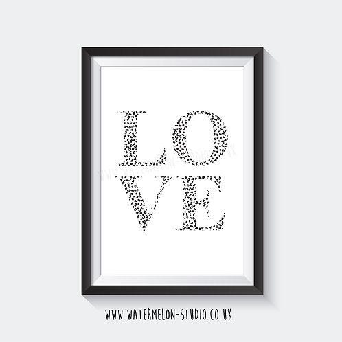 LOVE - Leopard print