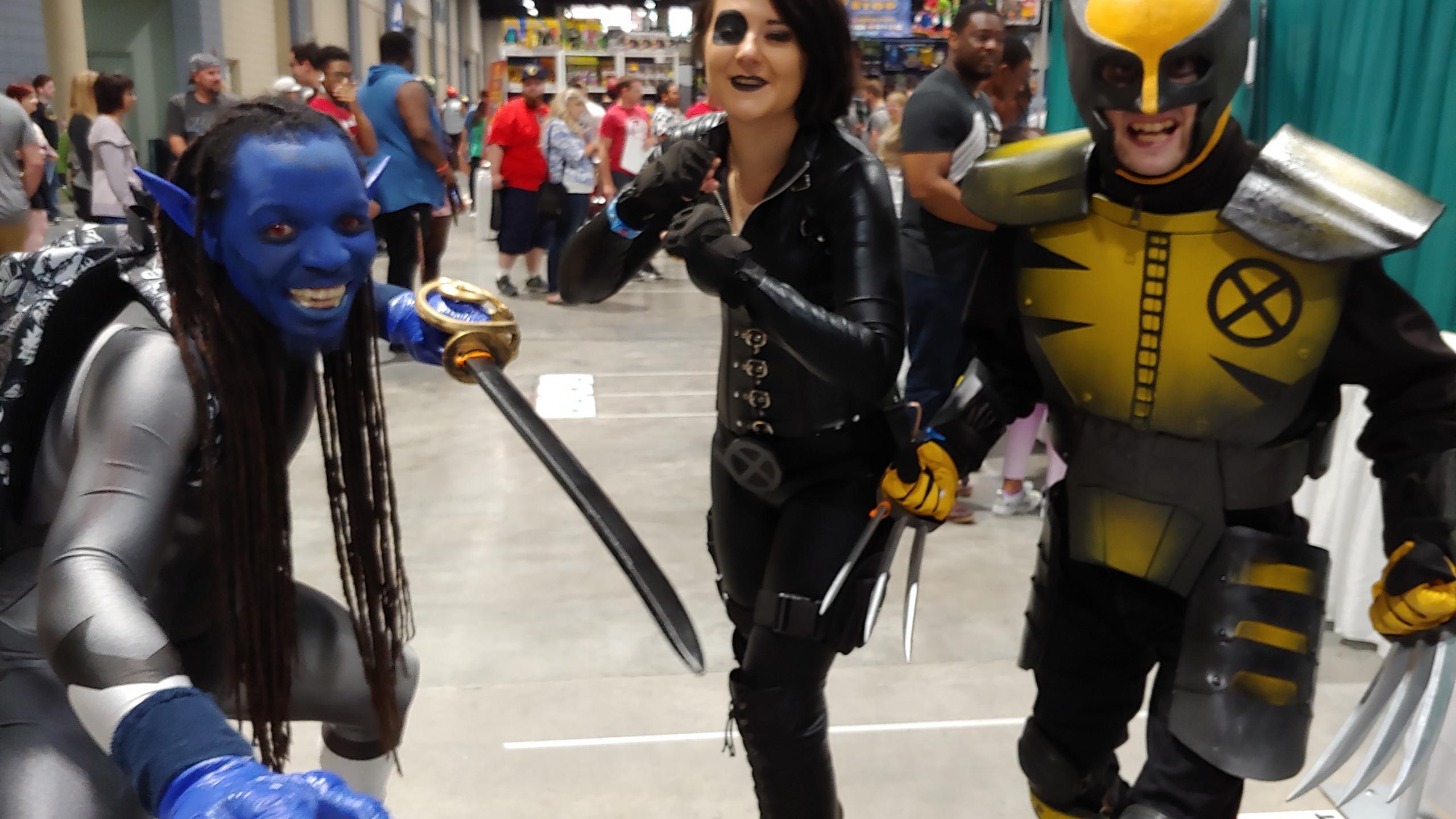 Xmen Nightcrawler Domino and Wolverine