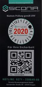 Siconia Kranmanagement GmbH, Plakettenträger, QR-Code,