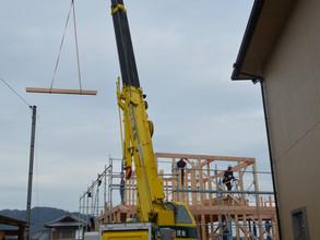 棟上げしました。