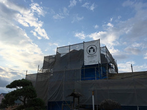 大改修工事着工と梅雨と台風。