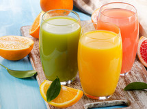 Healthy juices served at Ocean Hills