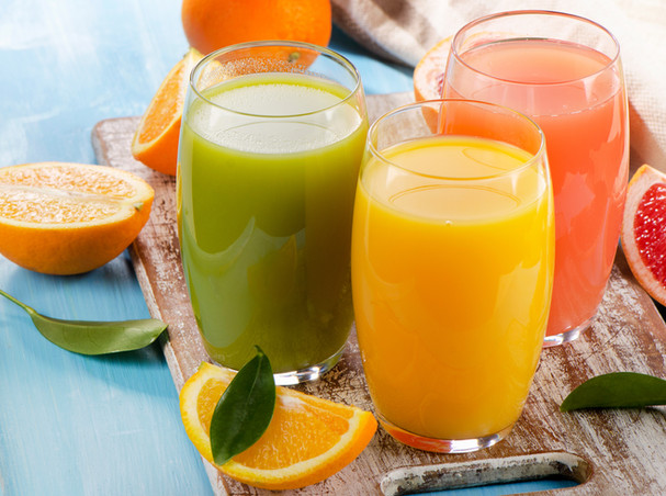 Healthy juices served at Ocean Hills