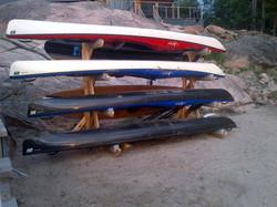 quad rack in cedar
