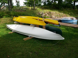 Double 1 kayak, 1 rowing scull