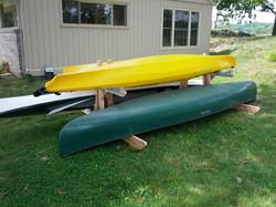 Double, 1 kayak 1 canoe