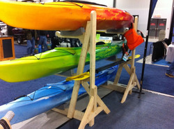 Store your lifejackets & paddles