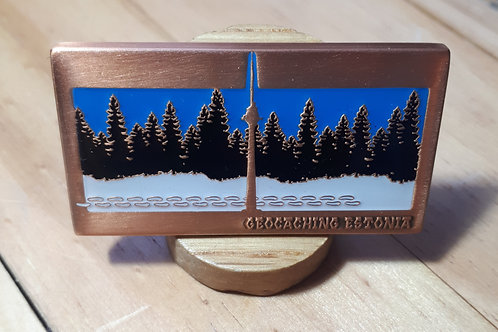 Geocaching Estonia Fundraiser Geocoin RE Antique Copper