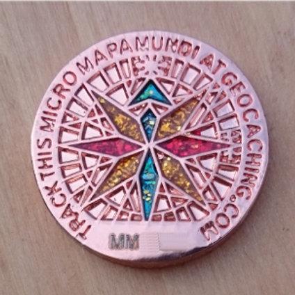 MicroMapaMundi (18mm) - Shiny Copper