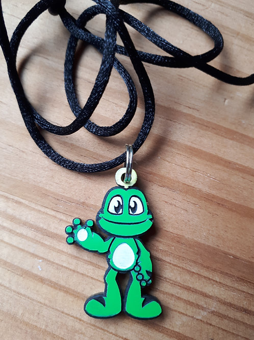SIGNAL! - Trackable Zipper Pull / Necklace (Acrylic)