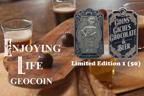 Enjoying Life Geocoin - Limited Edition 1 (50)