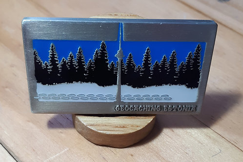 Geocaching Estonia Fundraiser Geocoin RE Antique Silver
