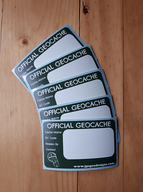 Geocache Labels pack of 5