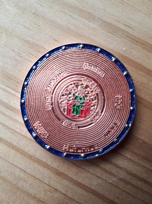 MapaMundi Geocoin - SE Shiny Copper (38mm)