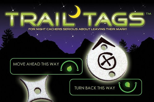 TRAILTAGS Reflective Tags (20PK) for Night Caches