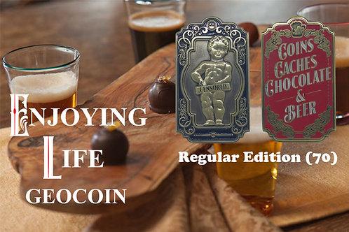 Enjoying Life Geocoin - Regular Edition (70)